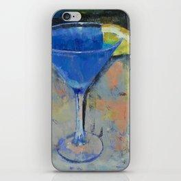 Royal Blue Martini iPhone Skin
