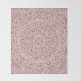 Mandala - Powder pink Throw Blanket