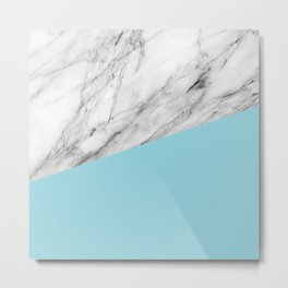 Marble and island paradise color Metal Print