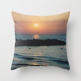 Sunset Ocean Bliss #1 #nature #art #society6 Throw Pillow