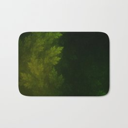 Beautiful Fractal Pines in the Misty Spring Night Bath Mat