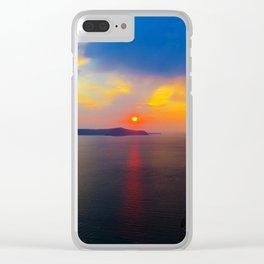 Fira,Sunset Clear iPhone Case