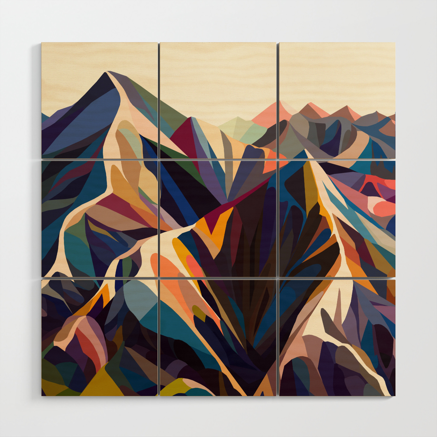 Triangle wood sign,Mountain wall art,Hanging wall art mountains Wood mountains triangle Wood mountains wall decor Mountains wood wall art