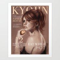 snk Art Prints featuring SnK Magazine: Sasha by emametlo