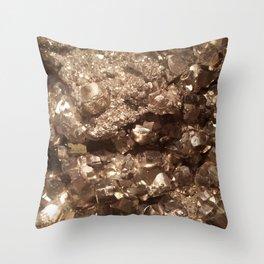 Gold Gemstone Photography | Luxury | Quartz | Crystal |Nature | Landscape Throw Pillow