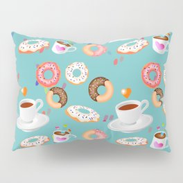 Coffee and Doughnuts Pillow Sham