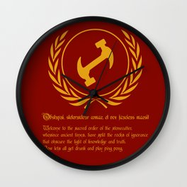 Stonecutters Wall Clock