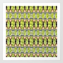 Wild Goat Face 01 Pattern Art Print