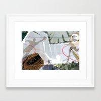 baseball Framed Art Prints featuring BASEBALL by Robin Curtiss