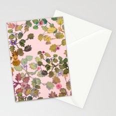 pink nature garden Stationery Cards