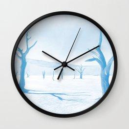 deadvlei desert trees acrwb Wall Clock