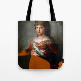 """Francisco Goya """"Infante Francisco de Paula"""" Tote Bag"""