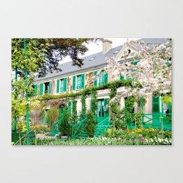 Claude Monet's Garden and Home Canvas Print