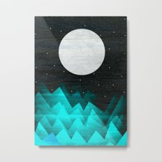 Night Waves Metal Print