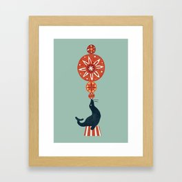 Circus Seal Framed Art Print