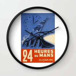 1954 Le Mans poster, Race poster, car poster, Wall Clock