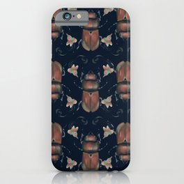 Beetle and beautiful flowers iPhone Case