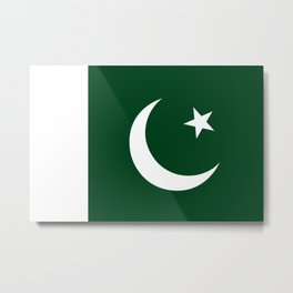 The National Flag of Pakistan - Authentic Version Metal Print