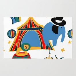 Circus Fun white Rug