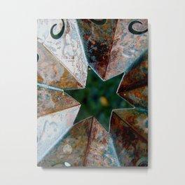 Rusty Star Metal Print