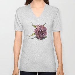 dried rose Unisex V-Neck