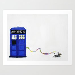 The Dachshunds Have the Phone Box Art Print