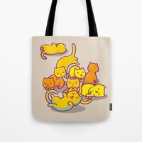 cats Tote Bags featuring cats ! by parisian samurai studio
