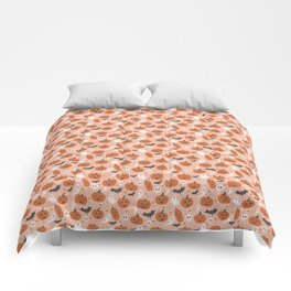 Pumpkin Party on Blush Pink Comforters