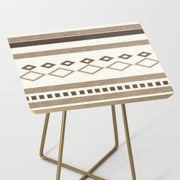 Western Pattern, Out West, Patterns, Brown, Tan, Beige, Shapes, Geometric Western Art Side Table