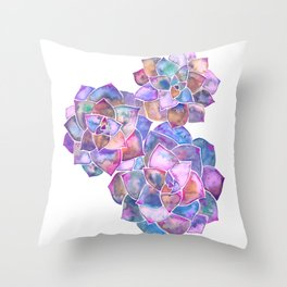 Rosette Succulents – Galaxy Palette Throw Pillow