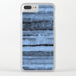 Expressive Inverted Watercolor Stripe Clear iPhone Case