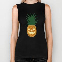 Carved Pineapple Hawaiian Halloween Biker Tank