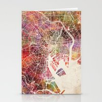 tokyo Stationery Cards featuring Tokyo by MapMapMaps.Watercolors