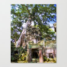 Angkor Temple Doorway Canvas Print