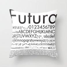 Futura (Black) Throw Pillow