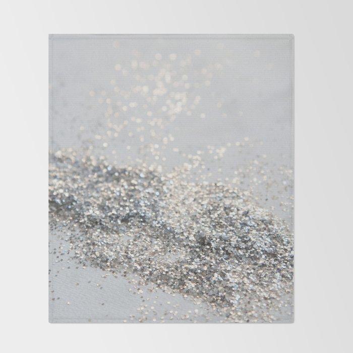 Silver Gray Glitter #2 #shiny #decor #art #society6 Throw Blanket