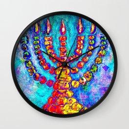 Temple Menorah Wall Clock