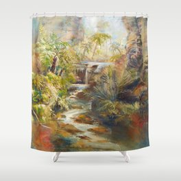 The mystery of the Gorge Shower Curtain