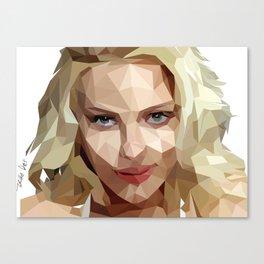 Scarlett Johansson Low Poly Art Canvas Print