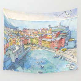 Vernazza, Cinque Terre, Italy Wall Tapestry