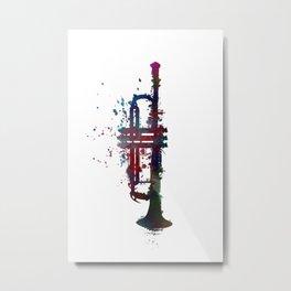 trumpet art #trumpet #music Metal Print