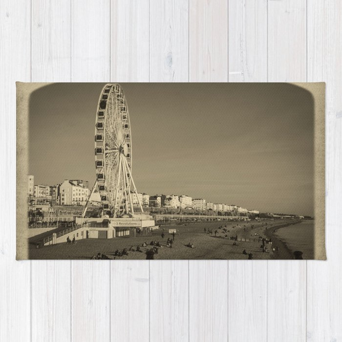 Ferris Wheel at Brighton, UK Rug