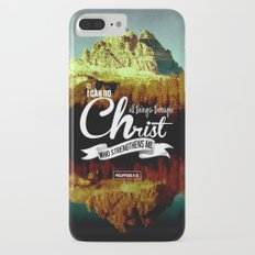 Typography Motivational Christian Bible Verses Poster - Philippians 4:13 Slim Case iPhone 7 Plus
