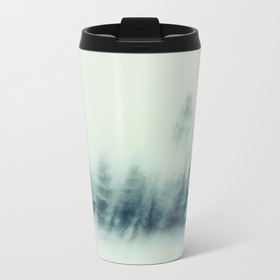 cold winter woods Metal Travel Mug