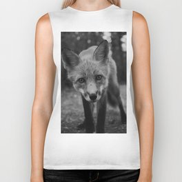 The Fox (Black and White) Biker Tank