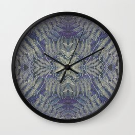 SYMMETRICAL PASTEL PURPLE BRACKEN FERN MANDALA Wall Clock