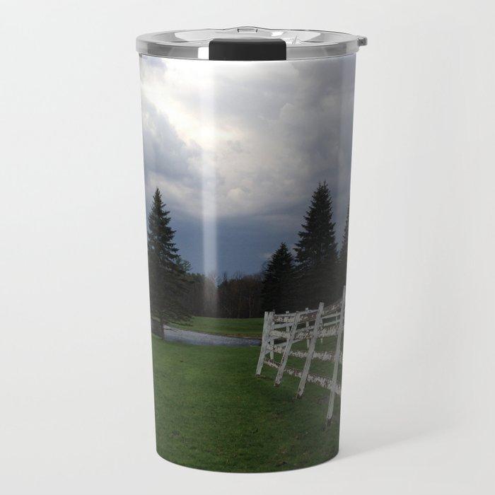 farm in the Catskill Mountains Travel Mug
