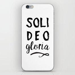 Soli Deo Gloria iPhone Skin