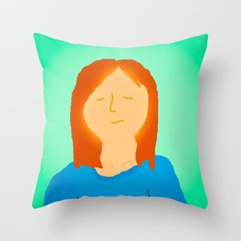 Deep Breath Throw Pillow