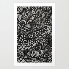 Radiating Art Print
